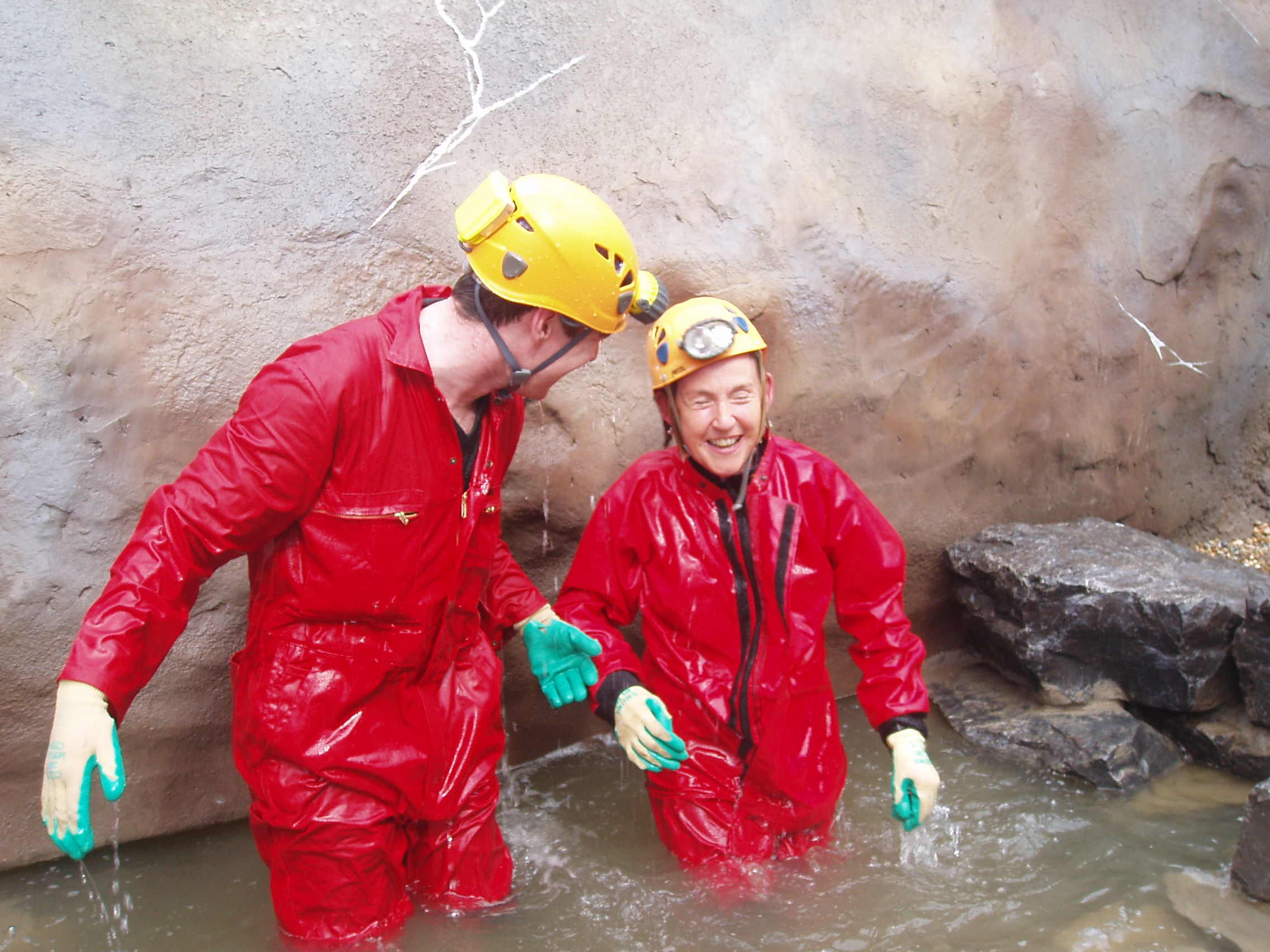 Caving with Pam Fogg